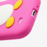 Silikonový Tučniak puzdro pro Samsung Galaxy S4 i9500- ružový - 5/5
