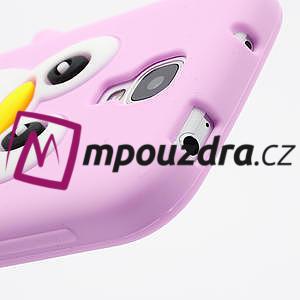 Silikonový Tučniak puzdro pro Samsung Galaxy S4 i9500- svetlo-ružový - 5