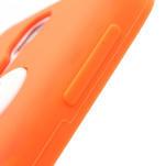 Silikonový Tučniak puzdro pro Samsung Galaxy S4 i9500- oranžový - 5/6