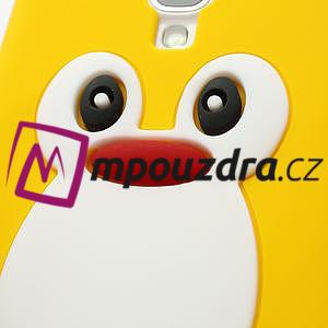 Silikonový Tučňák pouzdro pro Samsung Galaxy S4 i9500- žlutý - 5