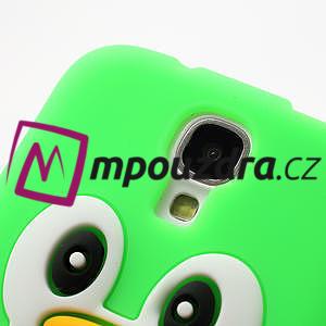 Silikonový Tučniak puzdro pro Samsung Galaxy S4 i9500- zelený - 5