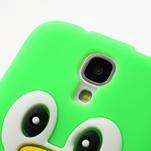 Silikonový Tučniak puzdro pro Samsung Galaxy S4 i9500- zelený - 5/6
