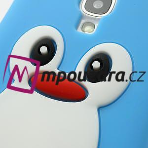 Silikonový Tučniak puzdro pro Samsung Galaxy S4 i9500- svetlo-modrý - 5
