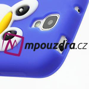 Silikonový Tučniak puzdro pro Samsung Galaxy S4 i9500- modrý - 5