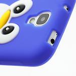 Silikonový Tučniak puzdro pro Samsung Galaxy S4 i9500- modrý - 5/6