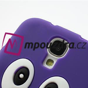 Silikonový Tučňák pouzdro pro Samsung Galaxy S4 i9500- fialový - 5