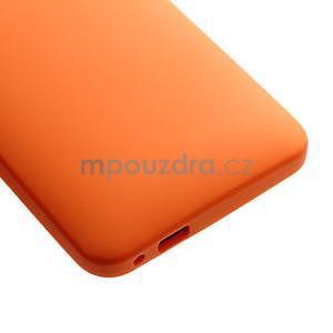 Silikonové puzdro pre HTC one M7- oranžové - 5