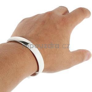 Multifunkční náramek micro USB, biely - 5
