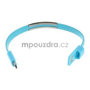 Multifunkční náramek micro USB, modrý - 5