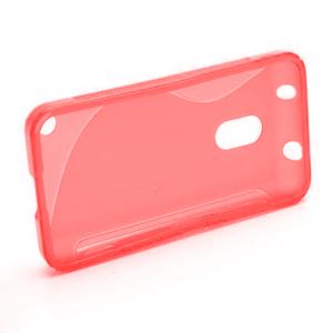 Gélové S-line puzdro na Nokia Lumia 620- červené - 5