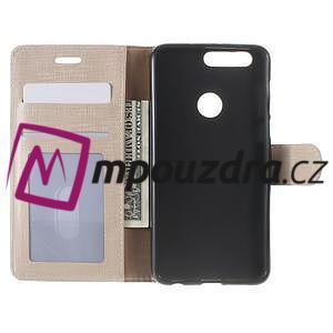Clothy peněženkové puzdro na mobil Honor 8 - zlaté - 5