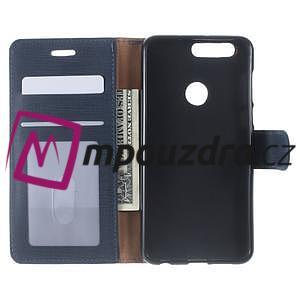 Clothy Peňaženkové puzdro pre mobil Honor 8 - tmavomodré - 5