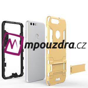 Outdoor odolný obal na mobil Honor 8 - šedomodrý - 5