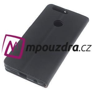 Clothy peněženkové puzdro na mobil Honor 8 - černé - 5