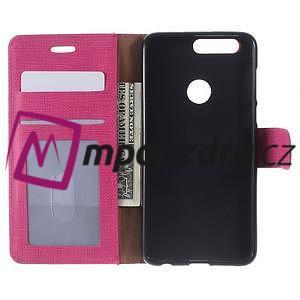 Clothy peněženkové puzdro na mobil Honor 8 - rose - 5