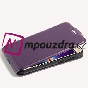Flipové PU kožené puzdro na Huawei Y3 II - fialové - 5