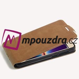 Flipové PU kožené puzdro na Huawei Y3 II - hnědé - 5