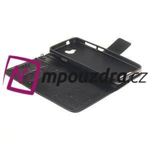 Dandelion PU kožené puzdro na mobil Huawei Y3 II - čierne - 5