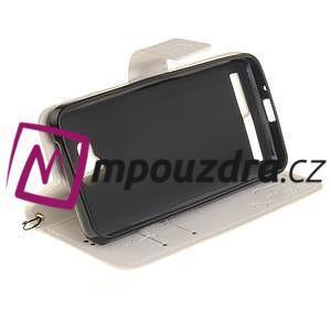 Dandelion PU kožené puzdro na mobil Huawei Y3 II - biele - 5