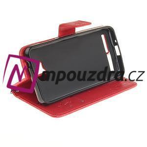 Dandelion PU kožené puzdro na mobil Huawei Y3 II - červené - 5