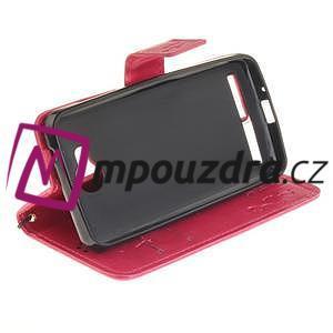 Dandelion PU kožené puzdro na mobil Huawei Y3 II - rose - 5
