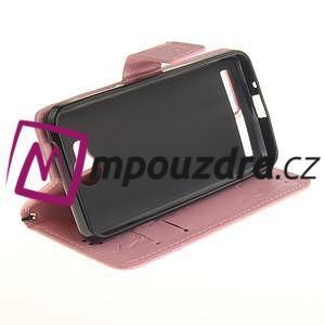 Dandelion PU kožené puzdro na mobil Huawei Y3 II - růžové - 5