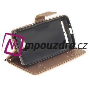 Dandelion PU kožené puzdro na mobil Huawei Y3 II - zlaté - 5