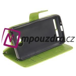 Dandelion PU kožené puzdro na mobil Huawei Y3 II - zelené - 5