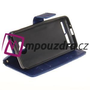 Dandelion PU kožené puzdro na mobil Huawei Y3 II - modré - 5