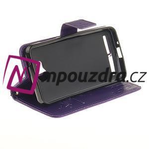 Dandelion PU kožené puzdro na mobil Huawei Y3 II - fialové - 5