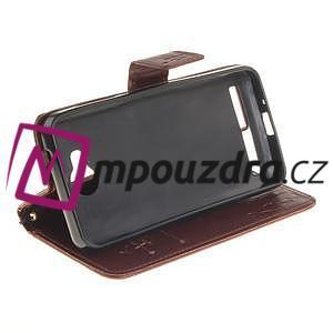 Dandelion PU kožené puzdro na mobil Huawei Y3 II - hnědé - 5