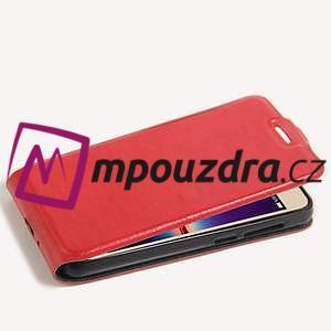 Flipové PU kožené puzdro na Huawei Y3 II - červené - 5
