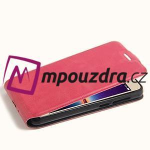 Flipové PU kožené puzdro na Huawei Y3 II - rose - 5