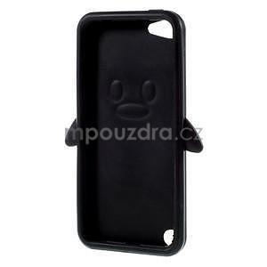 Penguin silikónový obal na iPod Touch 6 / iPod Touch 5 - čierny - 5