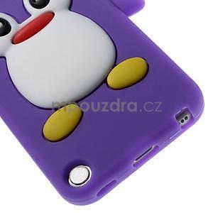 Penguin silikónový obal pre iPod Touch 6 / iPod Touch 5 - fialový - 5