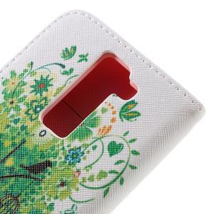 Emotive PU kožené puzdro pre LG K8 - zelený strom - 5