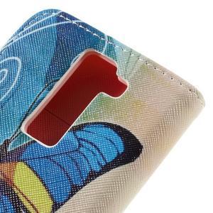 Emotive PU kožené pouzdro na LG K8 - modrý motýl - 5