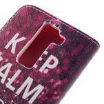 Emotive PU kožené pouzdro na LG K8 - Keep Calm - 5/7