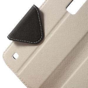 Diary PU kožené pouzdro s okýnkem na LG K8 - bílé - 5