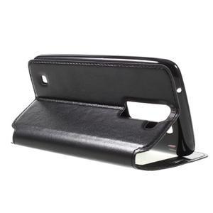 Richi PU kožené puzdro pre mobil LG K8 - čierne - 5
