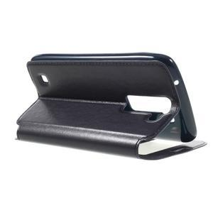 Richi PU kožené puzdro pre mobil LG K8 - tmavomodré - 5