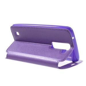 Richi PU kožené pouzdro na mobil LG K8 - fialové - 5