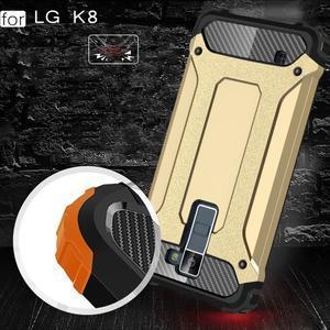 Armory odolný obal pre mobil LG K8 - zlatý - 5