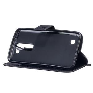 Dandelion PU kožené puzdro pre mobil LG K8 - čierne - 5