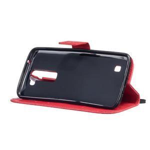 Dandelion PU kožené puzdro pre mobil LG K8 - červené - 5