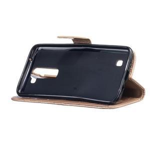 Dandelion PU kožené pouzdro na mobil LG K8 - zlaté - 5