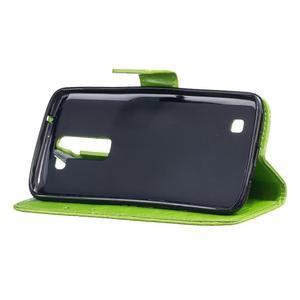 Dandelion PU kožené pouzdro na mobil LG K8 - zelené - 5