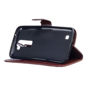 Dandelion PU kožené pouzdro na mobil LG K8 - hnědé - 5