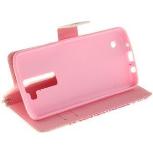 Style PU kožené puzdro pre LG K8 - farebná mandala - 5