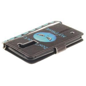 Style PU kožené pouzdro na LG K8 - nedotýkat se - 5